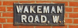 Wakeman Road Sign